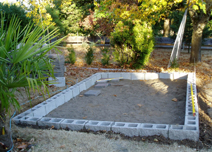 concrete block greenhouse foundation