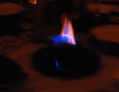 flaming pudding