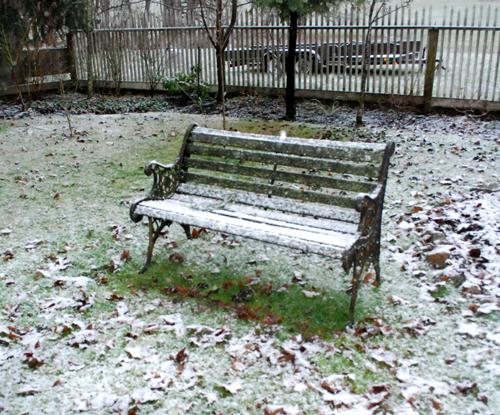 bench & snow