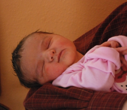 Kira, one day old