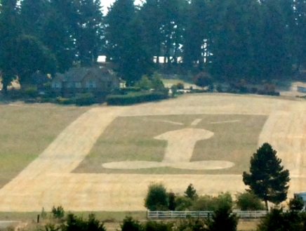 Western Oregon crop circles