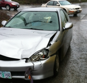 Honda Insight after crash