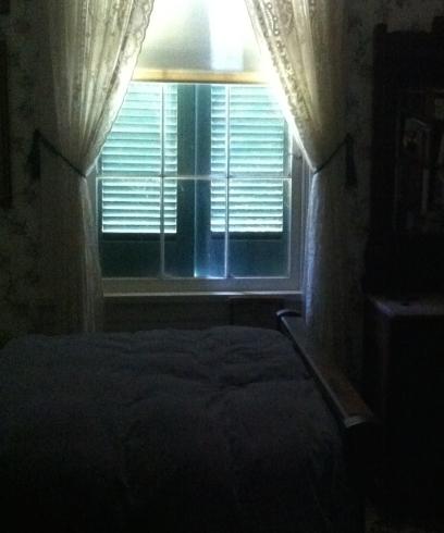 shuttered room